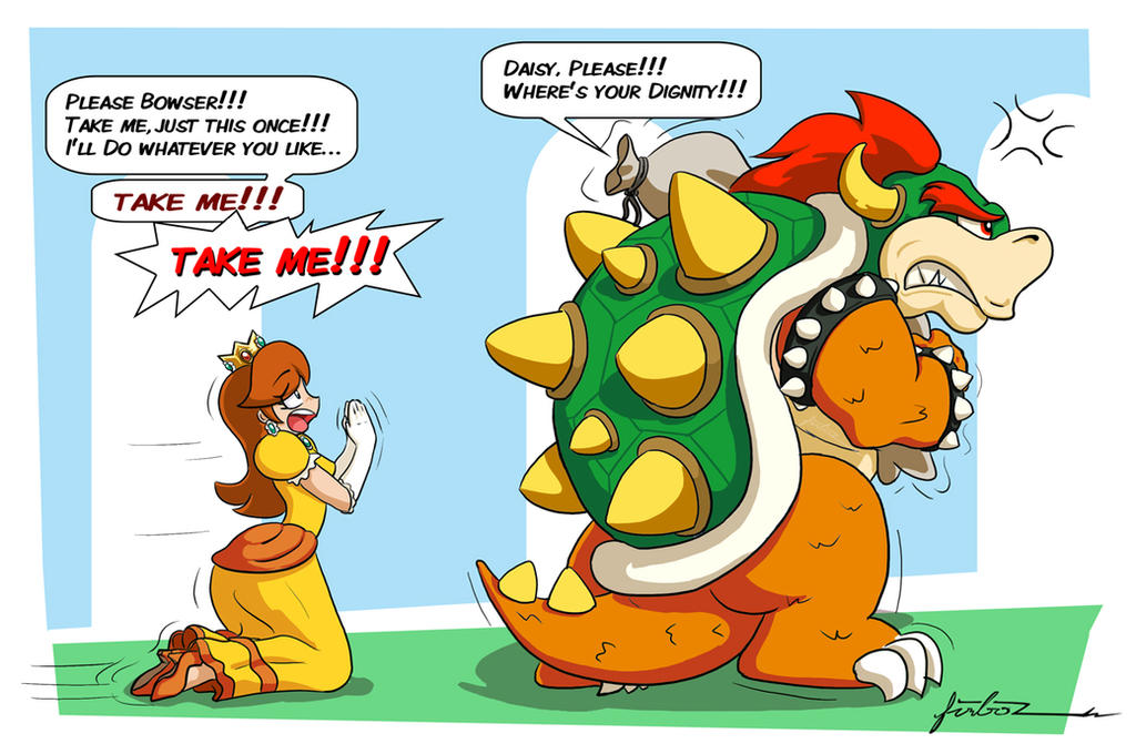Daisy and Bowser