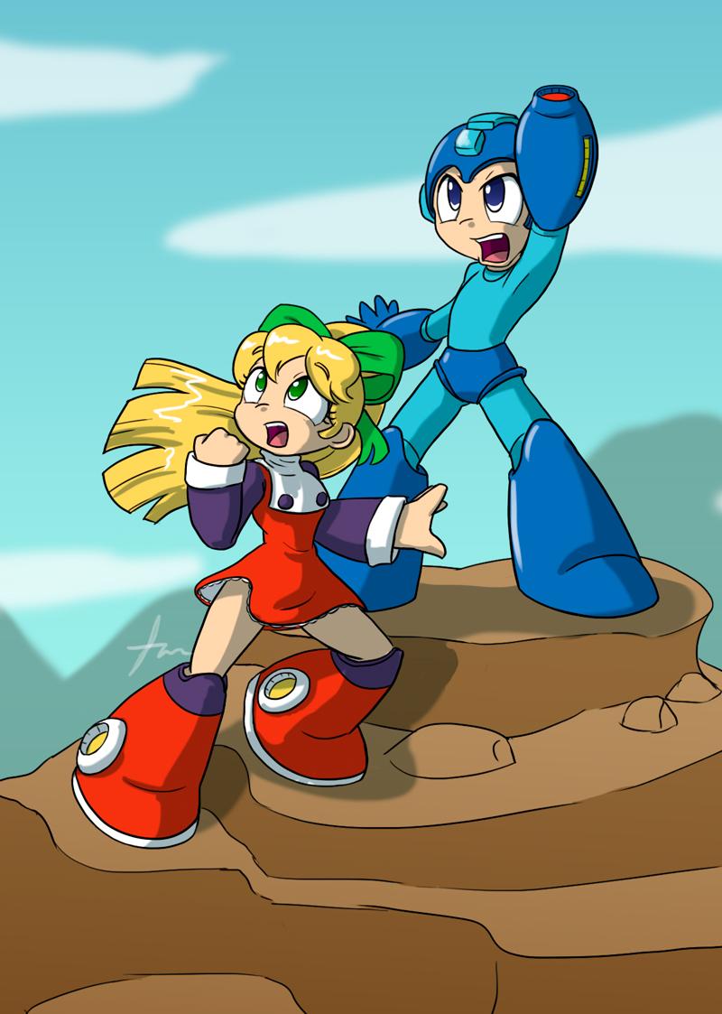 Megaman Poster WIP by Furboz