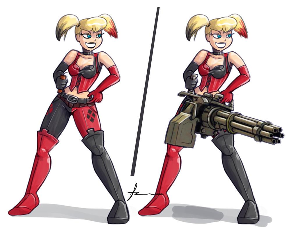 Harley Quinn Arkham City by Furboz