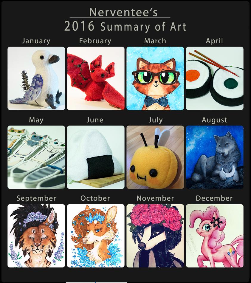 2016 - Summary of Art by Nerventee