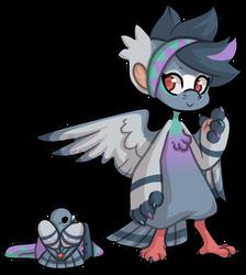 Bagbean #1596 - City Pigeon by Nerventee