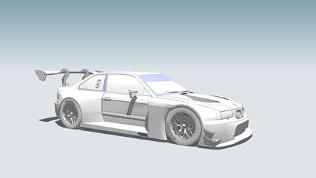 from old school to new school - bmw e36 GT3