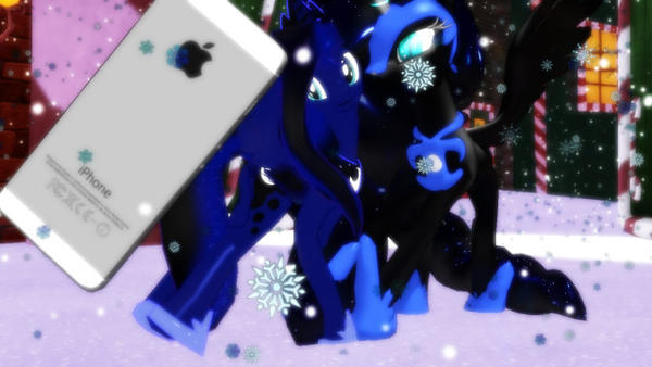 MMD MLP let's have a selfie Nightmare by reaperdeathlove