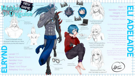 Character Reference Sheet - Elianna and Elrynd