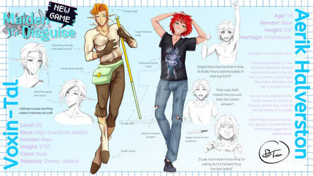 Character Reference Sheet - Aerik and Vox