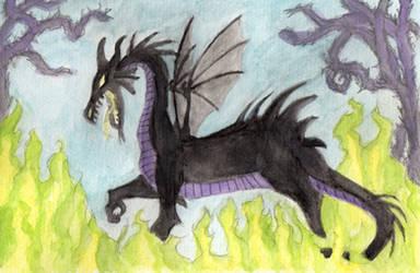 Maleficent Dragon (Watercolor)