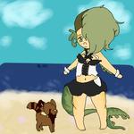 A walk on the beach by alinoravanity