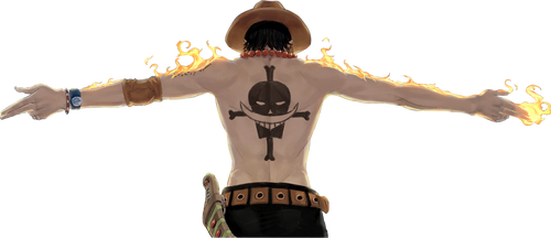 One Piece - Ace Render by AM4TER45U