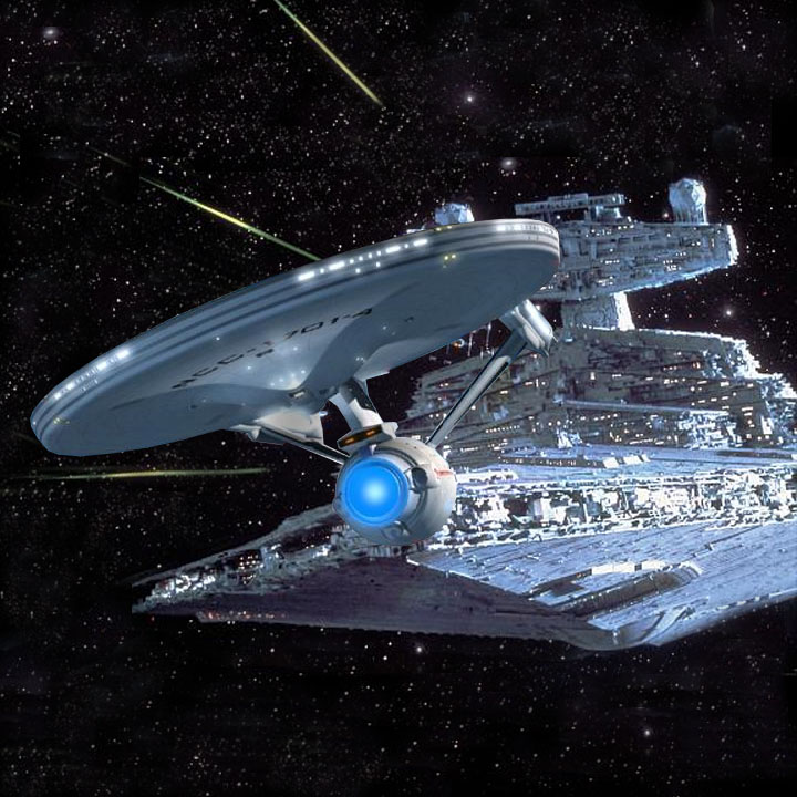 Star Trek vs Star Wars by ApolloNui