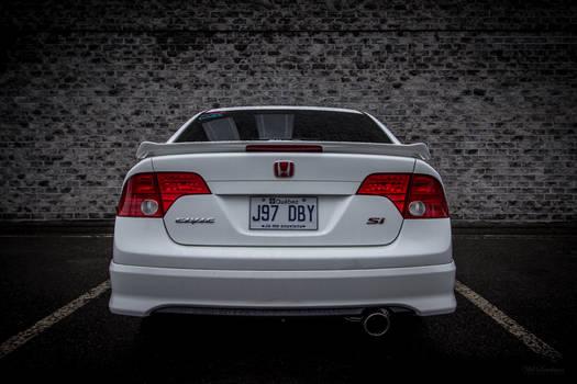 06-11 Honda Civic Si Wallpaper Taffeta White