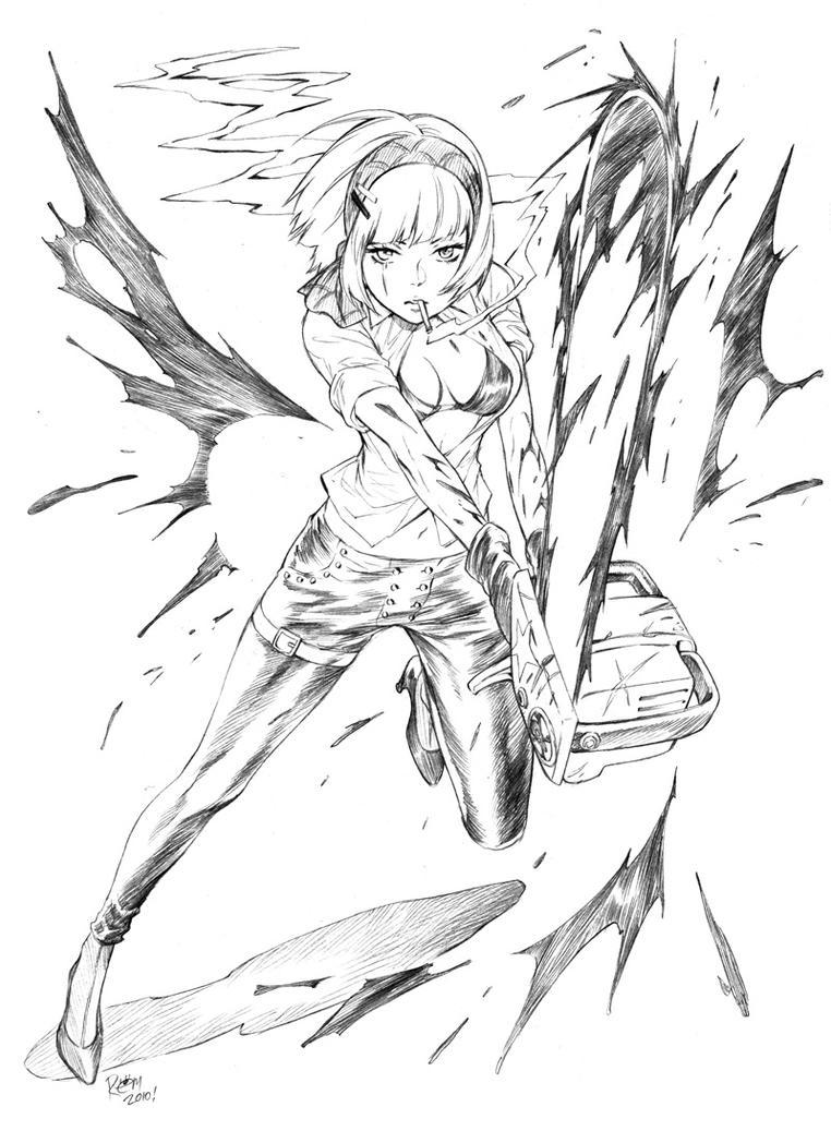 Zombie Hunter Girl By Tsulala