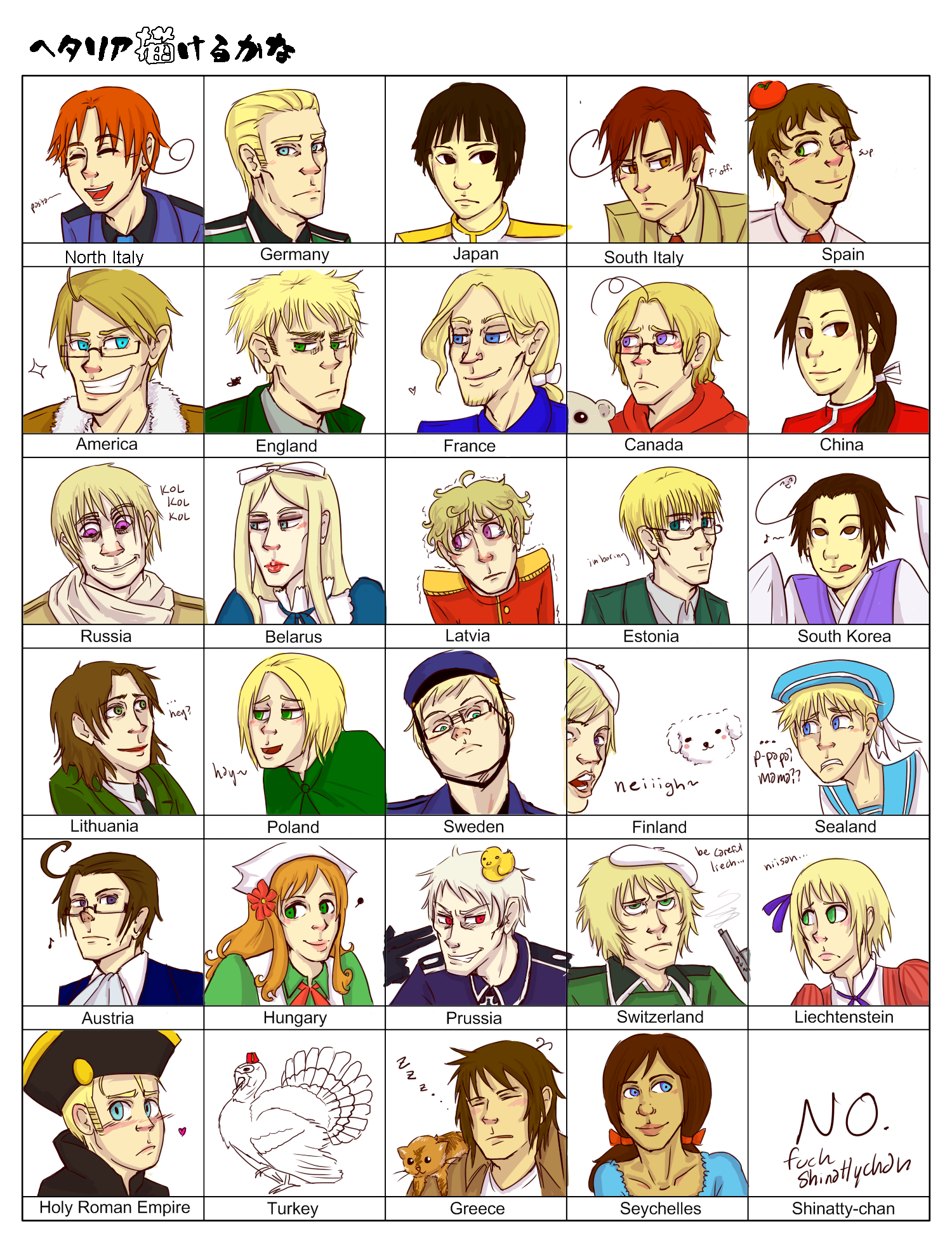 HETALIA 30 CHARACTER MEME by morimori-mori