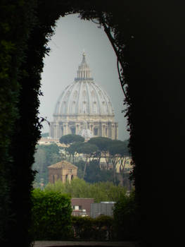 Keyhole view of Vatican