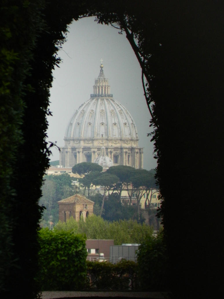 Keyhole view of Vatican by Georgya10