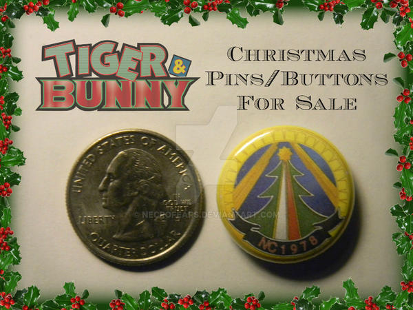 aae7ea8d357 Tiger and Bunny Christmas Pins/Buttons by Necrofears on DeviantArt