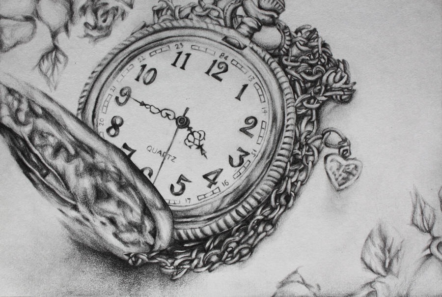 Broken Pocket Watch Drawings Pocketwatch By Alltheotherkids