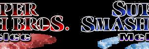 Super Smash Bros. Melee - HD Logo (Red / Blue) V1