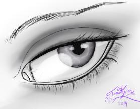 Black And White Eye by phantomwriter99
