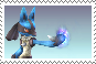 Lucario Stamp by NarashiOtome