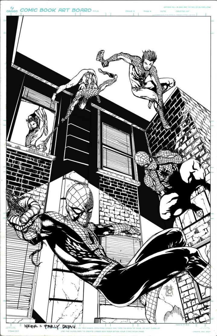 Peter Parker  Spider Man By Icicle-inked by triple--eight
