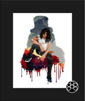 Semi Realism Digital Painting Slash Guns N' Roses by triple--eight