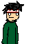 Pixel Character Experiment No.1 by Sajextryus