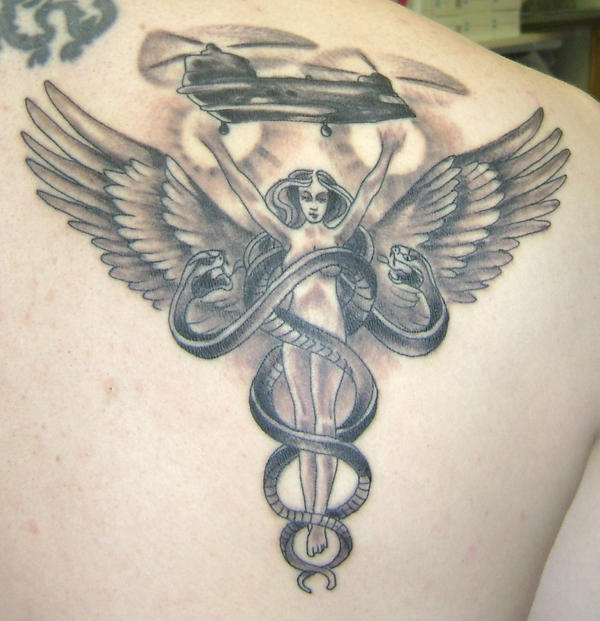 Caduceus tattoo by ~Angatyr1 .