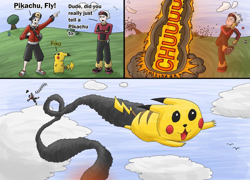 Pikachu, Fly by Pattythedog615