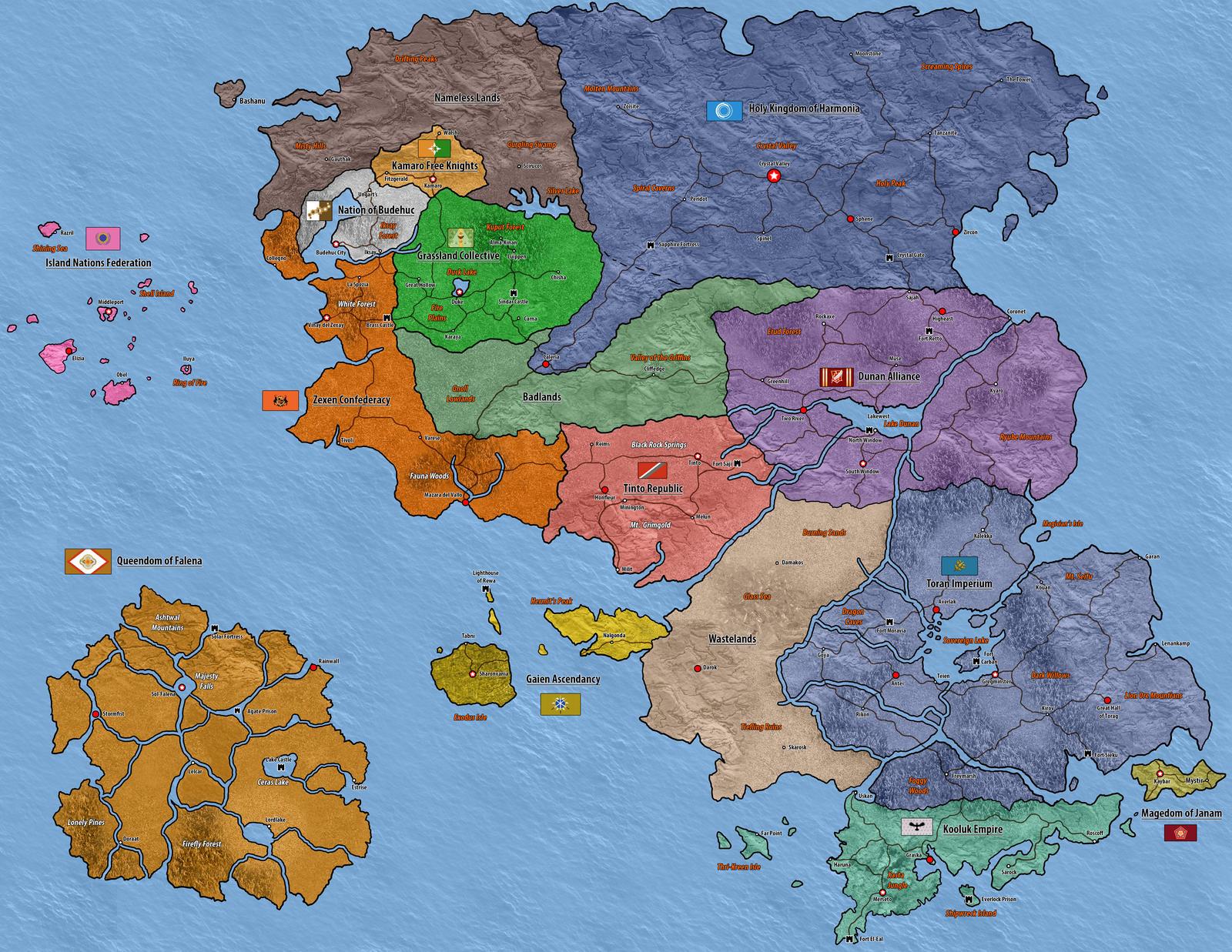 Captivating Suikoden Map