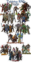 Tabletop RPG All the Characters by Pattythedog615