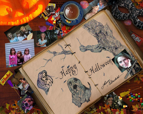 My Desk Halloween by Filmchild