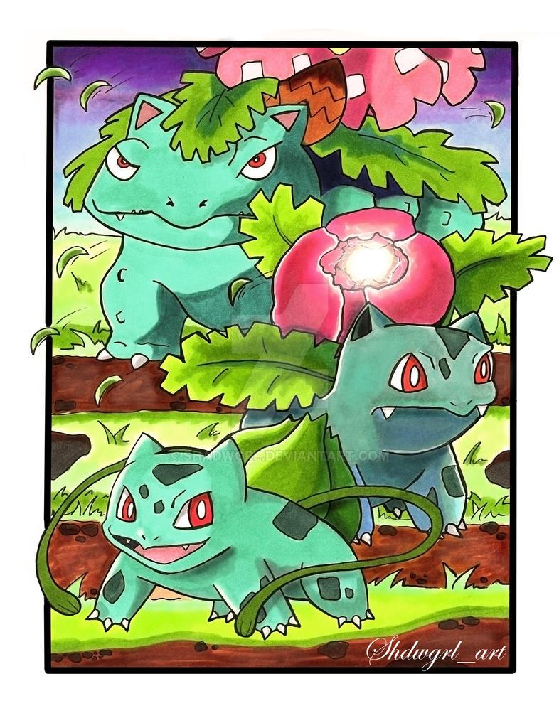 Bulbasaur Evolutions by shadwgrl