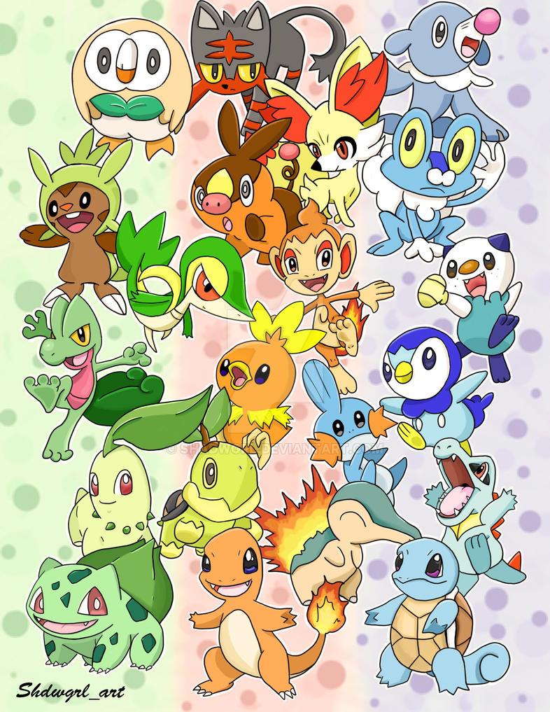Starter Pokemon by shadwgrl
