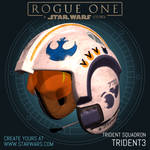 X-Wing Helmet for Trident Squadron 'Trident 3'
