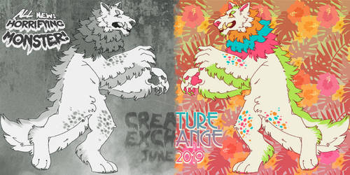 june 2019 creature exchange - syrcaid (again!) by okaeno