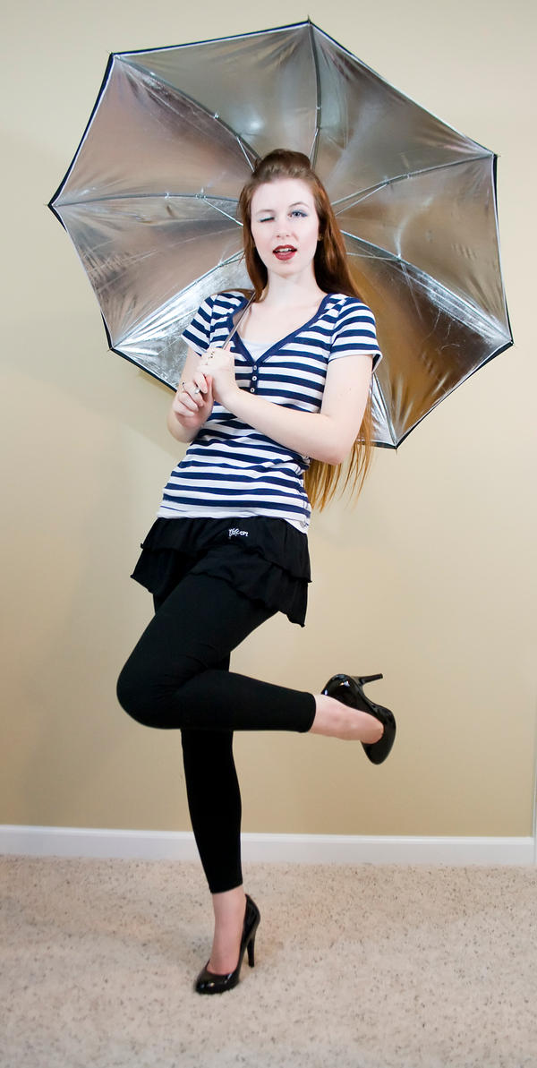 Pinup umbrella by Sinned-angel-stock