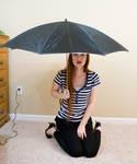 Sitting with umbrella 2