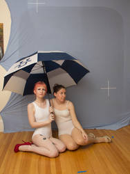 Senshistock collab: Sitting with umbrella by Sinned-angel-stock