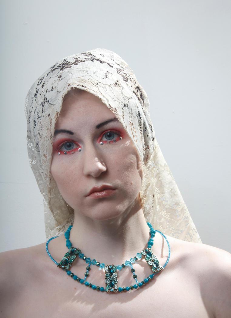 Lace headdress by Sinned-angel-stock