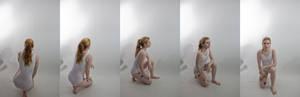 Pose ref: kneeling turn around
