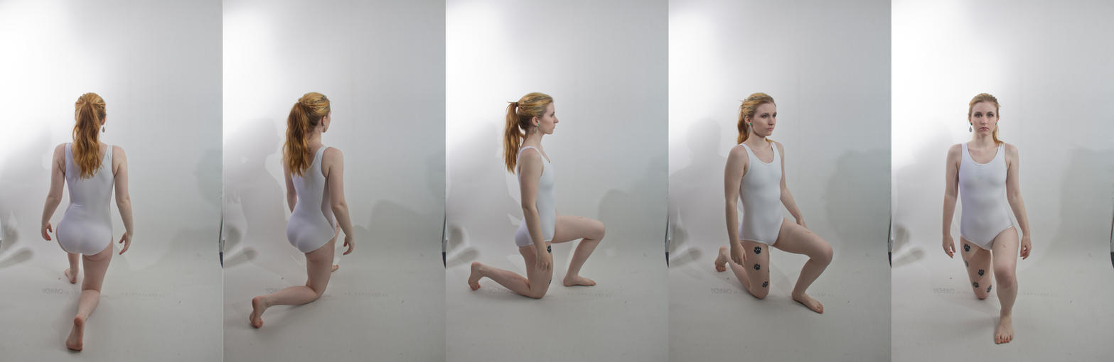 Pose ref: kneeling turn around 2 by Sinned-angel-stock