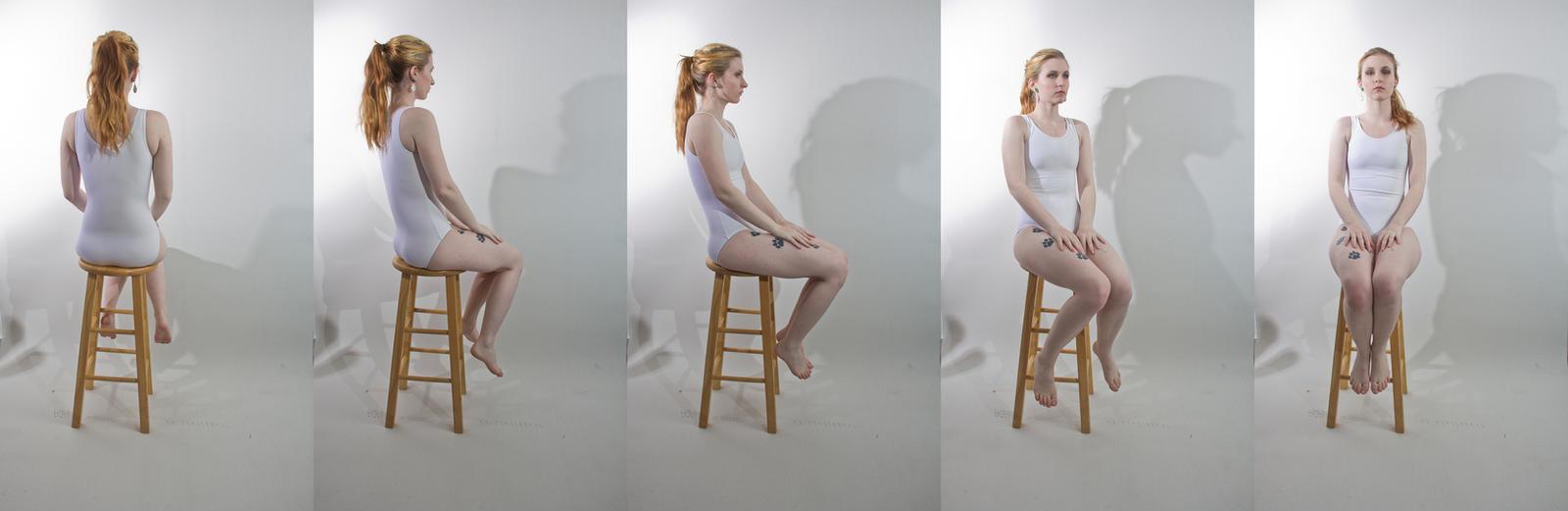 Pose ref: sitting turnaround by Sinned-angel-stock