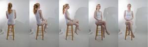Pose ref: sitting cross legged turn around