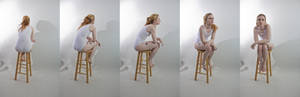 Pose ref: sitting leaning forward turn around