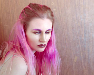 Pink hair 4 by Sinned-angel-stock