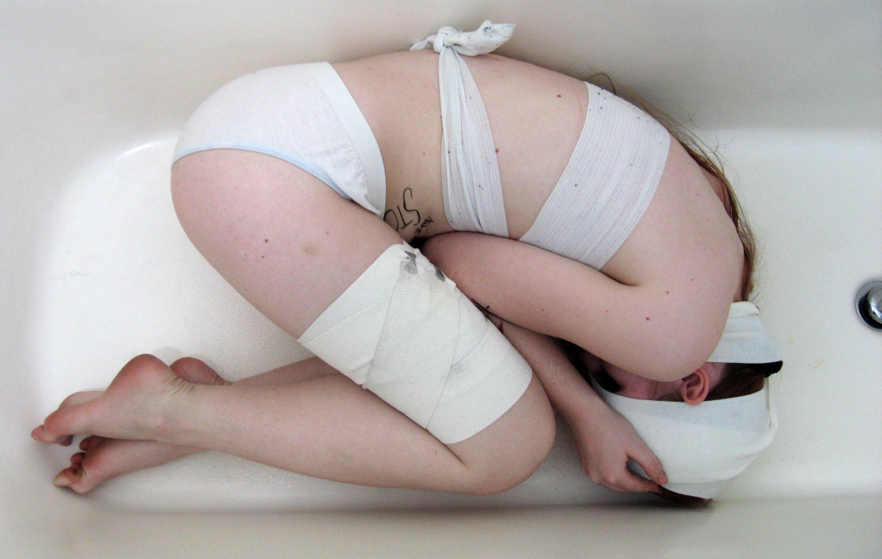 Fetal position by Sinned-angel-stock