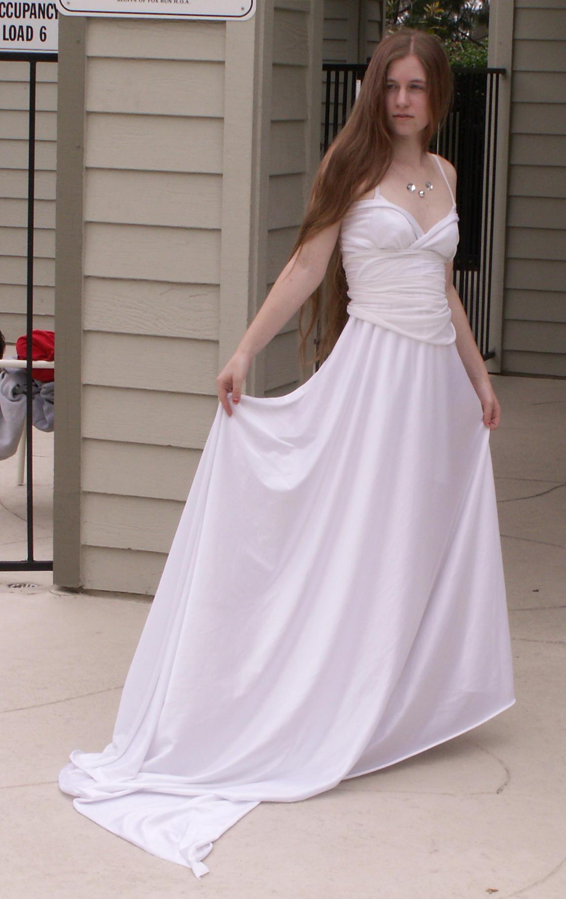 Makeshift princess dress by Sinned-angel-stock