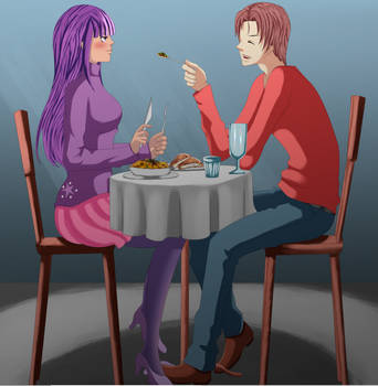 Twilight Sparkle x Peter Parker- Try some meat!
