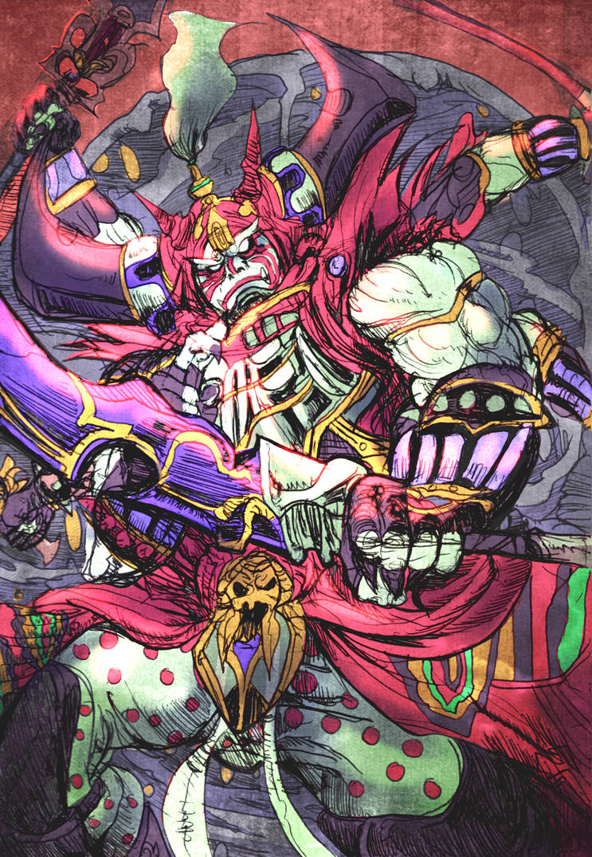Gilgamesh Final Fantasy Color Sketch