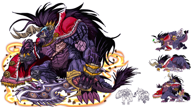 FFBE Unit Contest: King Behemy Transparent BG
